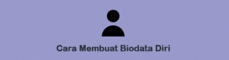 cara penulisan biodata diri